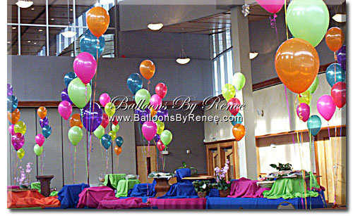 Balloons by renee of orlando florida 407 275 2232 for Balloon decoration for corporate events